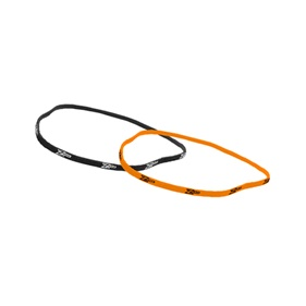 ZONE HAIRBAND SLIM 2-PACK (BLACK + NEON ORANGE)