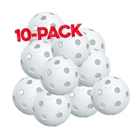SALMING AERO PLUS BALL WHITE 10-PACK