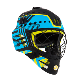 SALMING TRAVIS ELITE HELMET BLACK/CYAN