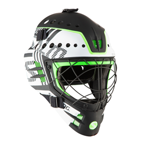 SALMING TRAVIS ELITE HELMET WHITE/GECKOGREEN