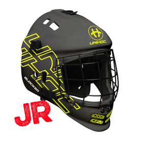 UNIHOC GOALIE MASK UNIHOC BLOCKER BLACK JR
