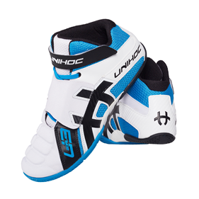 UNIHOC SHOE U3 GOALIE WHITE/BLUE EUR 36 - 21 CM