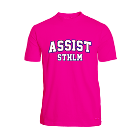 ASSIST STHLM FUNCTIONAL TEE PINK  L