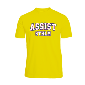 ASSIST STHLM FUNCTIONAL TEE YELLOW L