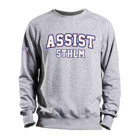 ASSIST STHLM SWEATSHIRT GREY L