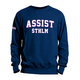 ASSIST STHLM SWEATSHIRT NAVY L