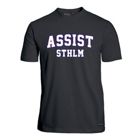 ASSIST STHLM FUNCTIONAL TEE BLACK 4XL