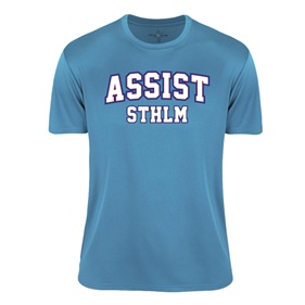 ASSIST STHLM FUNCTIONAL TEE TURQUOISE L