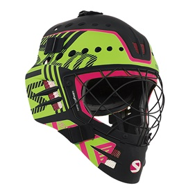 SALMING TRAVIS ELITE HELMET BLACK/GECKOGREEN SR