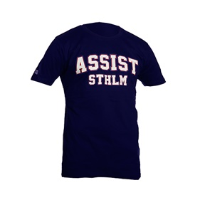 ASSIST STHLM TEE NAVY  L