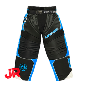 UNIHOC GOALIE PANTS OPTIMA JR BLACK/BLUE 140 CL