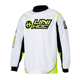 UNIHOC GOALIE SWEATER OPTIMA WHITE/NEON YELLOW XS