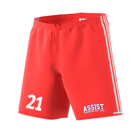ADIDAS CONDIVO SHORTS BRIGHT RED/WHITE L