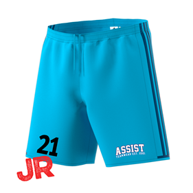 ADIDAS CONDIVO SHORTS JR BRIGHT CYAN/DEEP MARIN 116 CL