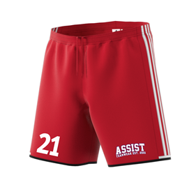 ADIDAS CONDIVO SHORTS POWER RED/WHITE L