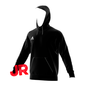 ADIDAS CORE HOODY JR BLACK/WHITE 116 CL