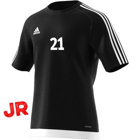 ADIDAS ESTRO 15 JSY JR BLACK/WHITE 116 CL