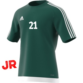 ADIDAS ESTRO 15 JSY JR COLLEGIATE GREEN/WHITE 116 CL