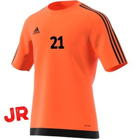 ADIDAS ESTRO 15 JSY JR ORANGE/BLACK 116 CL