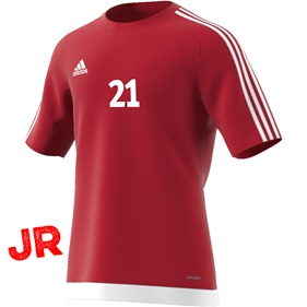 ADIDAS ESTRO 15 JSY JR POWER RED/WHITE 116 CL