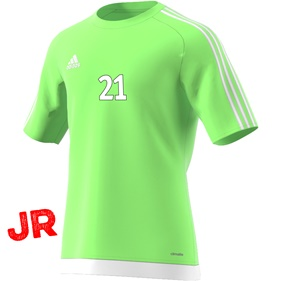 ADIDAS ESTRO 15 JSY JR SOLAR GREEN/WHITE 116 CL