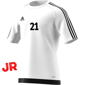 ADIDAS ESTRO 15 JSY JR WHITE/BLACK 116 CL