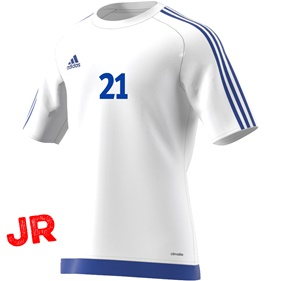 ADIDAS ESTRO 15 JSY JR WHITE/BOLD BLUE 116 CL