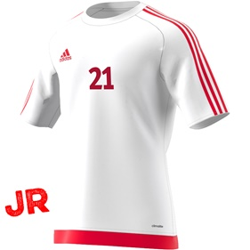 ADIDAS ESTRO 15 JSY JR WHITE/RED 116 CL