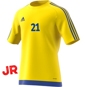ADIDAS ESTRO 15 JSY JR YELLOW/BOLD BLUE 116 CL