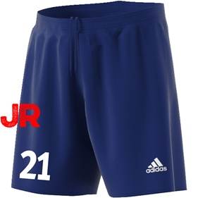 ADIDAS PARMA JR SHORTS DARK BLUE/WHITE 116 CL
