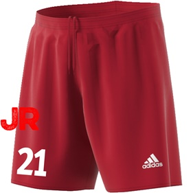 ADIDAS PARMA JR SHORTS POWER RED/WHITE 116 CL