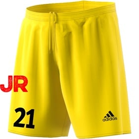 ADIDAS PARMA JR SHORTS YELLOW/BLACK 116 CL
