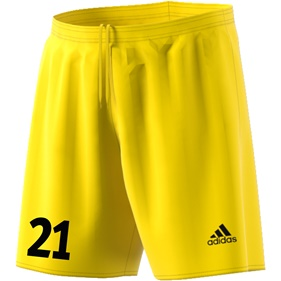 ADIDAS PARMA SHORTS YELLOW/BLACK L