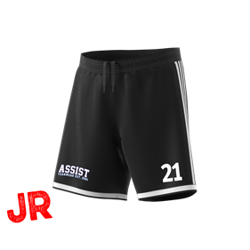 ADIDAS REGISTA 18 SHORTS BLACK/WHITE 116 CL