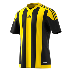 ADIDAS STRIPED 15 JSY BLACK/YELLOW L