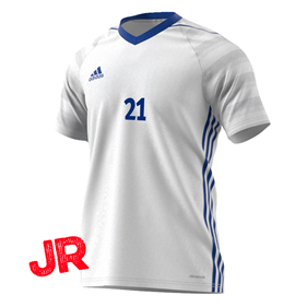 ADIDAS TIRO 17 JSY JR WHITE/BLUE 116 CL