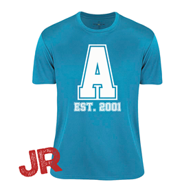 ASSIST A-FUNCTIONAL TEE TURQUOISE JR 120 CL