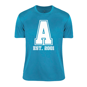 ASSIST A-FUNCTIONAL TEE TURQUOISE L