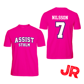 ASSIST STHLM CUPTRÖJA JR ROSA 140 CL