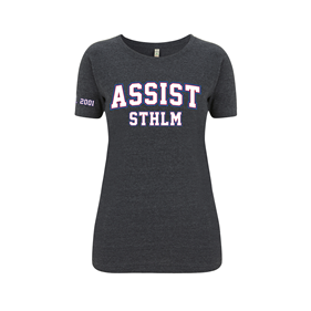 ASSIST STHLM T-SHIRT WN´S MELANGE BLACK L