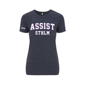 ASSIST STHLM T-SHIRT WN´S MELANGE NAVY L