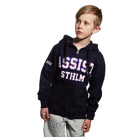 ASSIST STHLM ZIP HOOD JR BLACK 128 CL