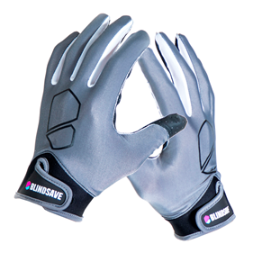 BLINDSAVE GOALIE GLOVES GREY L