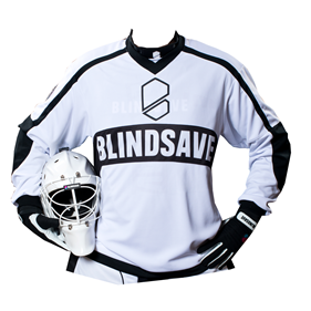 BLINDSAVE GOALIE JERSEY WHITE L