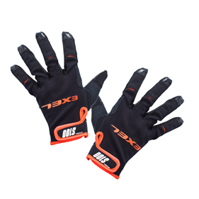 EXEL S100 GOALIE GLOVES SHORT BLACK/ORANGE 10