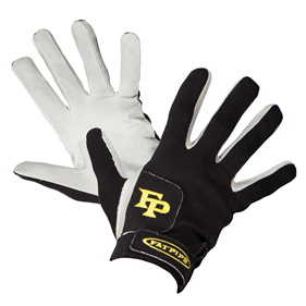 FATPIPE GK-GLOVES WITH LEATHER PALM BLACK/YELLOW L