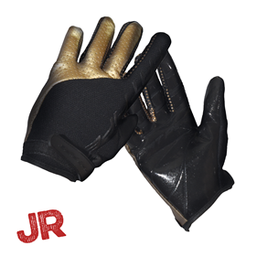 FATPIPE GK-JUNIOR GLOVES WITH SILICONE PALM BLACK/GOLD 150 CL