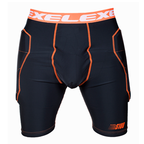 EXEL S100 PROTECTION SHORTS BLACK/ORANGE L