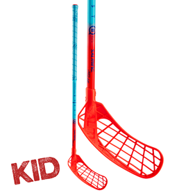 SALMING Q2 KID BLUE/LAVA RED 35 JR 77CM LEFT