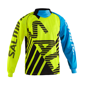 SALMING TRAVIS GOALIE JSY SR FLUOYELLOW/LTBLUE XXL POLO NECK